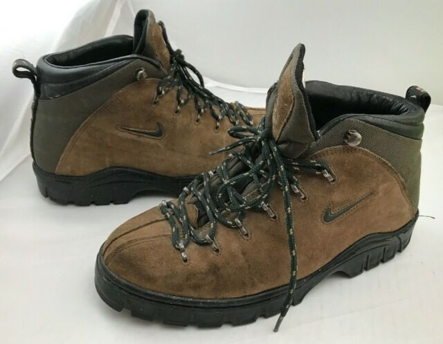 Nike ACG Trail Compound 980608 Brown Suede Leather Hiking Boots .