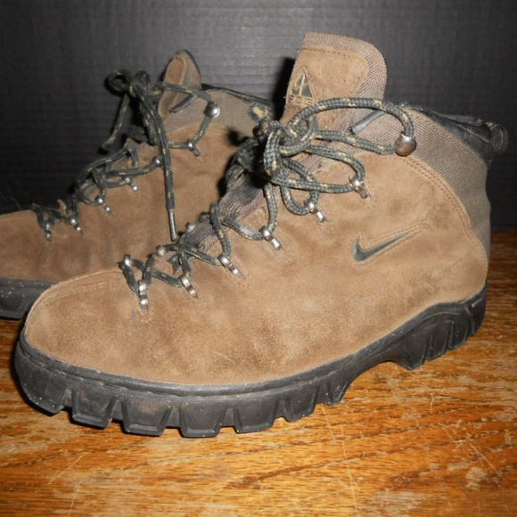 Nike Shoes | Acg Brown Leather Hiking Boots Mens Size 85 | Poshma
