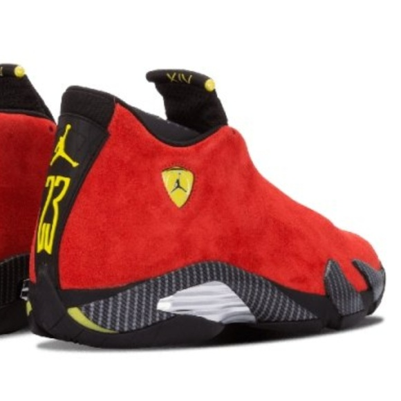 Nike Jordan Shoes | Nike Air Jordan 14 Retro Ferrari | Poshma