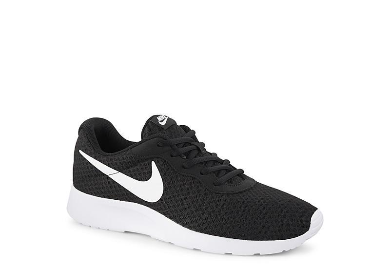 Black & White Nike Tanjun Men's Running Shoes | Rack Room Sho