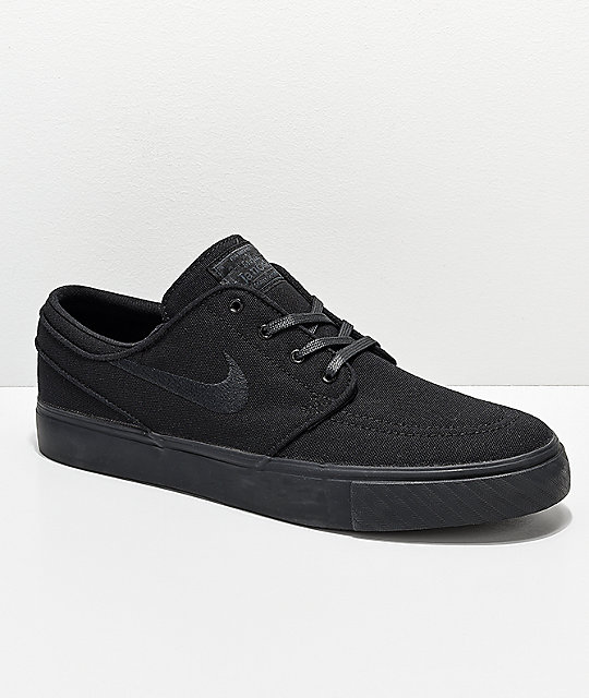 Nike SB Janoski Black Canvas Skate Shoes | Zumi