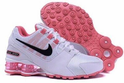 HOT NEW WOMEN Nike Shox Avenue Running Shoes White/Pink   eB