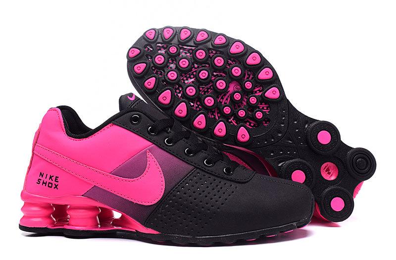 Women's Nike Shox Deliver Hyper Pink Black Running Shoes .