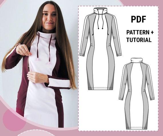 Nursing dress sewing pattern / Breastfeeding dress pattern / | Et