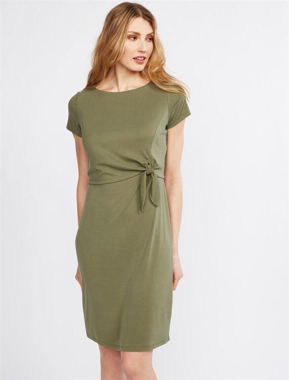 Tie Front Lift Up Nursing Dress | A Pea in the Pod Materni