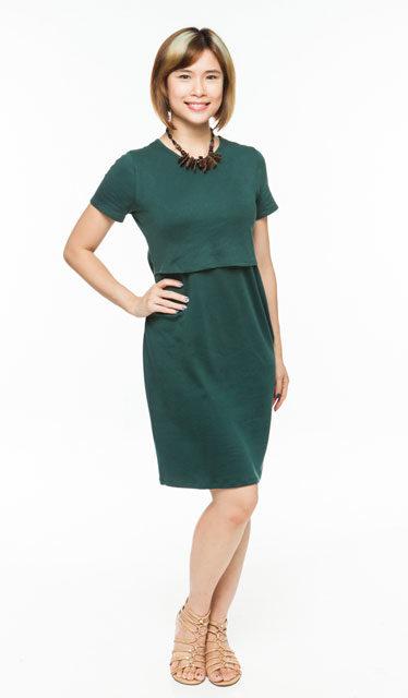 Short Sleeve Nursing Dress — MaternityandNursing.c