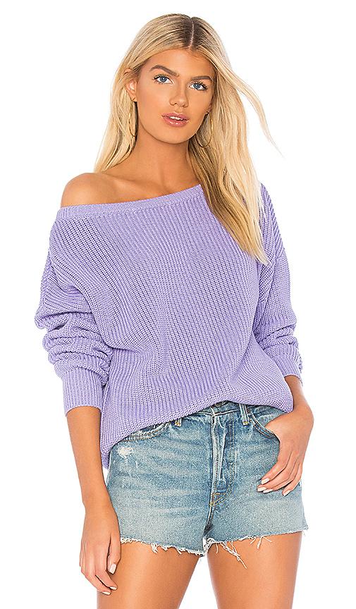 Callahan X REVOLVE Shaker Knit Off Shoulder Sweater in Lavender .