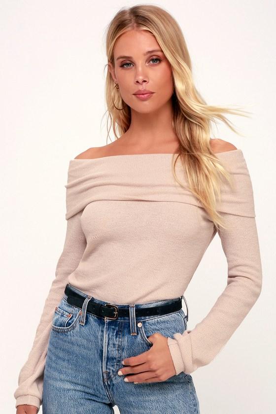 Cute Blush Top - OTS Top - Long Sleeve Top - Light Pink T