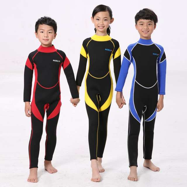 Child Neoprene Diving Wetsuit Boys Girls 4 To 14 Years Old .