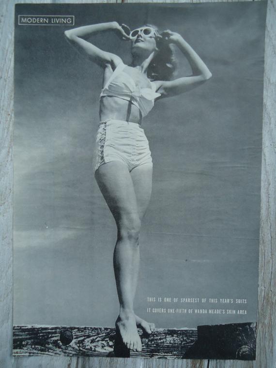 Vintage Swimsuit Vintage pinup 1944 Swimsuit Vintage | Et