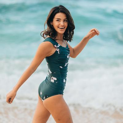 The Victoria Off Shoulder One-Piece Swimsuit - Albi