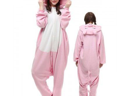 Pink Pig Kigurumi Onesie Pajamas Animal Costumes For Adu