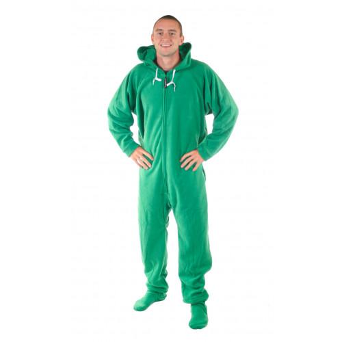 Green Deluxe Footie PJs, Onesie Pajamas, One Piece Footed P