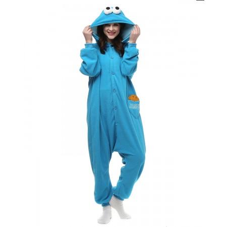 Cookie Monster Kigurumi Onesie Pajamas Animal Costumes For Women & M