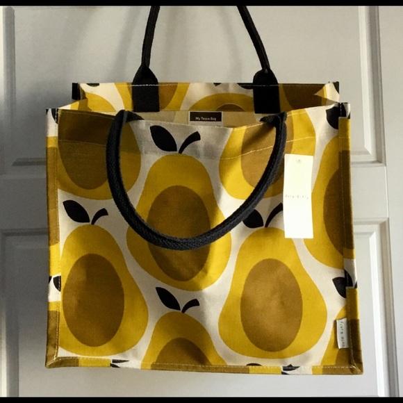 Orla Kiely Bags | New For Tesco Tote Bag Yellow Pears | Poshma