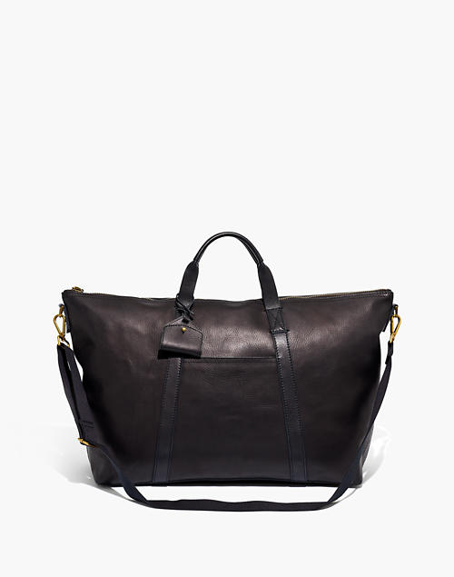 The Essential Overnight Bag in Leath