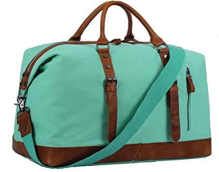 Amazon.com | Overnight Bag Women Ladies Travel Duffel Genuine .