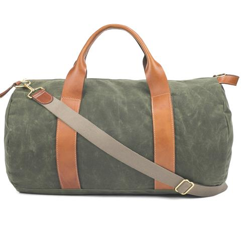 Men's Army Green Canvas Weekender & Overnight Bag | Boarding Pass N