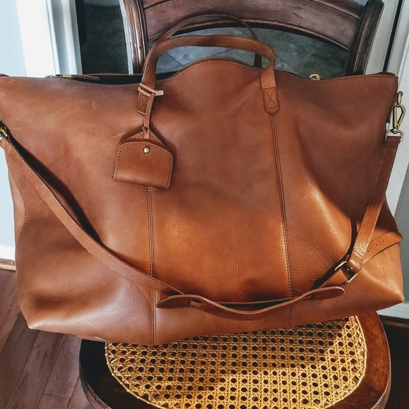 Madewell Bags | Leather Duffel Overnight Bag By | Poshma