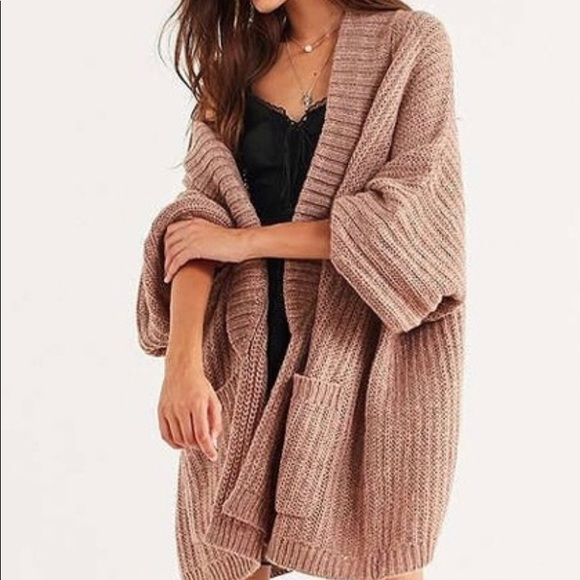 Urban Outfitters Sweaters | Bdg Jesse Oversized Cardigan Rose Nwot .
