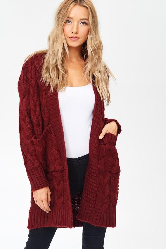 Cable Knit Oversized Cardigan Sweater – STAR GAL STYL