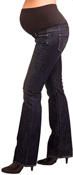 PAIGE Premium Denim Laurel Canyon Maternity Jeans - McKinley Wash .