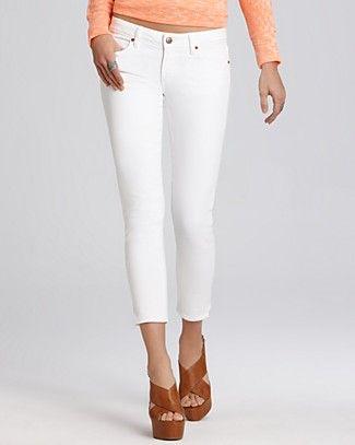Paige Denim Jeans - Kylie Crop Leg Jean in Optic White Wash $179 .