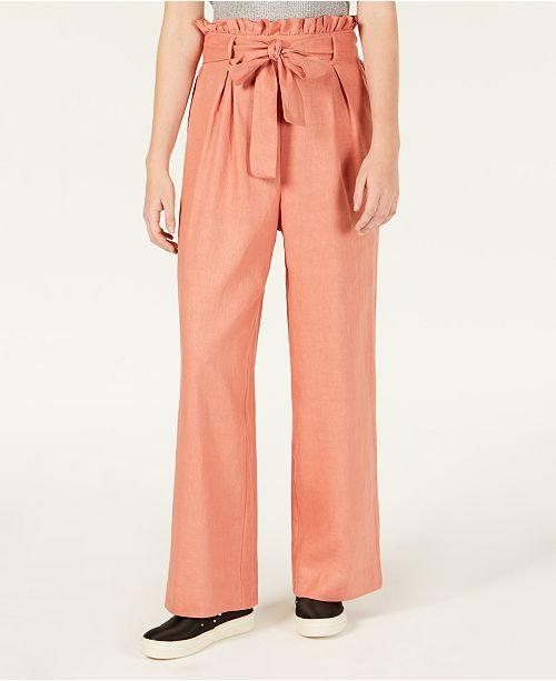 Material Girl Juniors' Tie-Waist Palazzo Pants, Created for Macy's .