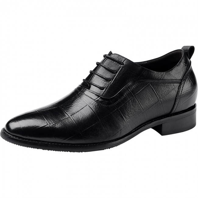 Pointed Toe Height Increasing Oxford Shoes for Men 2.4inch / 6cm .