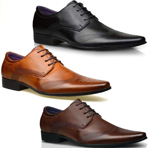 MENS FAUX LEATHER SHOES NEW ITALIAN SMART FORMAL WEDDING OFFICE .