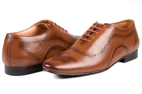 Brown Lace-up Leather Party Wear Shoes, Rs 750 /piece, JR .