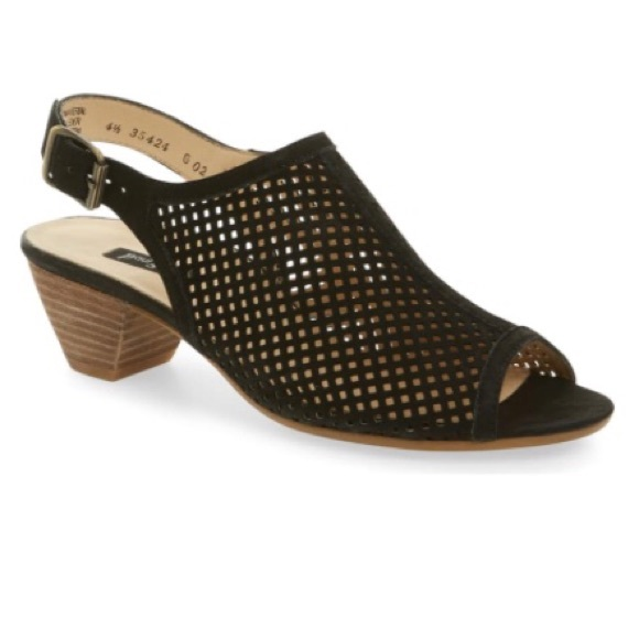 Paul Green Shoes | Black Open Toe Booties Lois Style | Poshma
