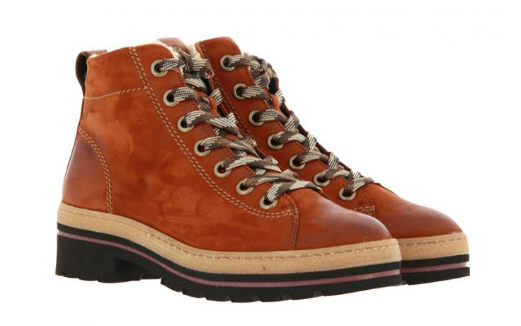 Paul Green lace-up boots NUBUK CALF COGNAC SADD