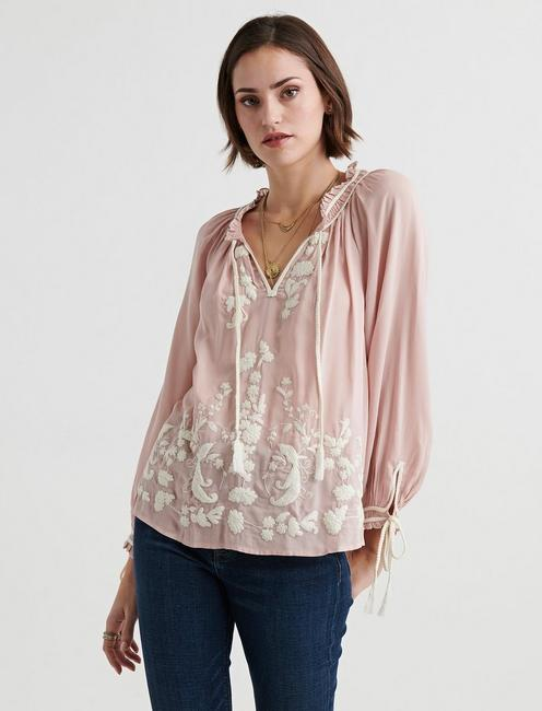 Embroidered Peasant Top | Lucky Bra