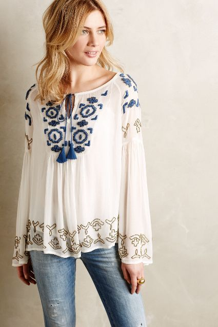 Diem Peasant Top - anthropologie.com #anthrofave | Fashion, Style .