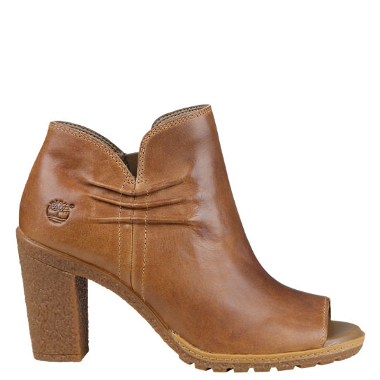 Women's Glancy Ruched Peep-Toe Boots | Timberland US Sto