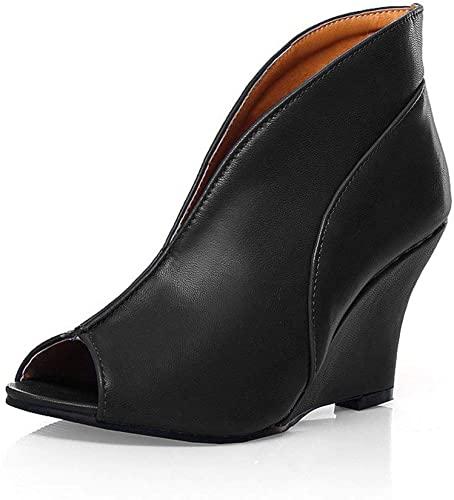 Amazon.com | Milesline Spring Summer Womens Peep Toe Wedge Ankle .