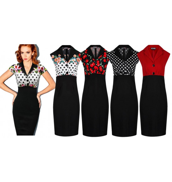 Rockabilly Floral Party Wiggle Pencil Dresses   Ro Rox Boutiq