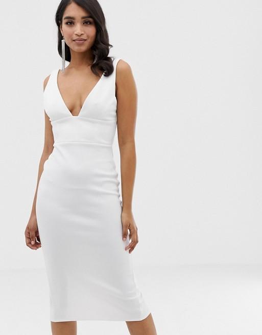 ASOS DESIGN corset detail midi pencil dress   AS