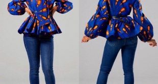 African print BULB peplum top by house-of-izzi - Peplum Tops .