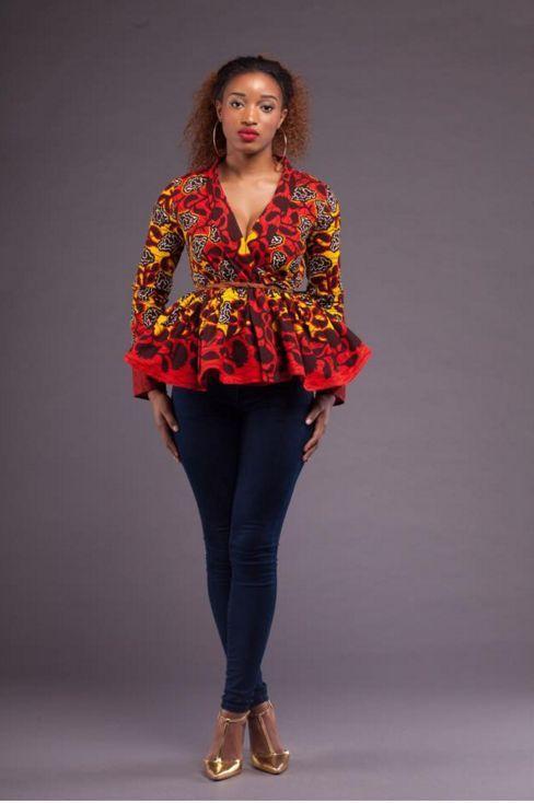 Beautiful african ankara peplum tops for slay queens, classic .