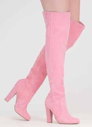 Walking Tall Over-The-Knee Boots   Pink boo