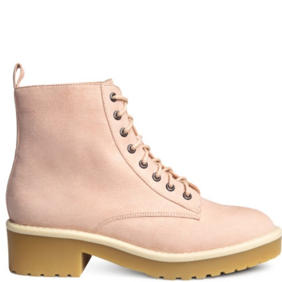 H&M Shoes   Pink Boots   Poshma