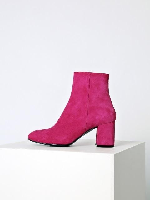 MENODEMOSSO SUEDE ANKLE BOOTS - HOT PINK   W Conce