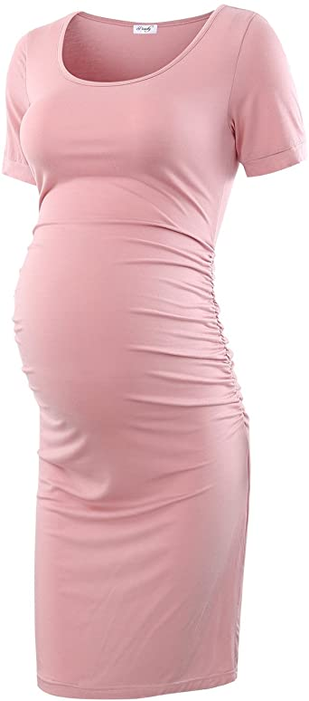 Peauty Bodycon Maternity Dress for Baby Shower Christmas Short and .