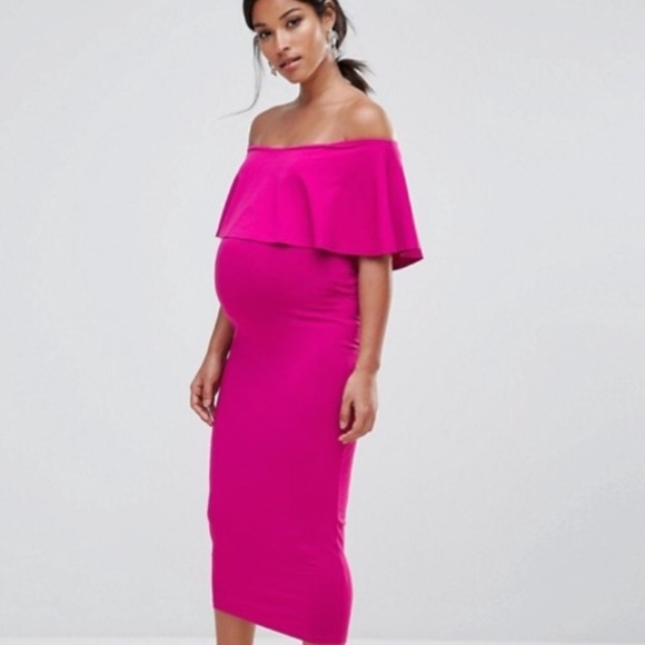 ASOS Dresses | Hot Pink Maternity Dress | Poshma