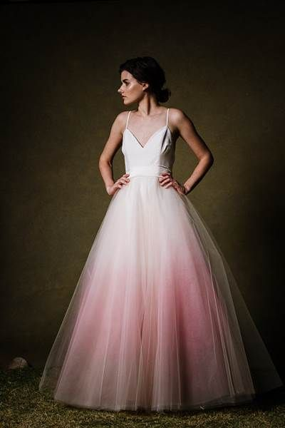 Dip-dyed wedding dresses are the gorgeous new bridal trend .