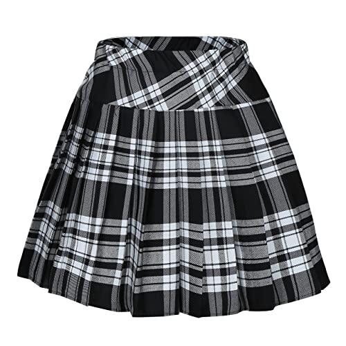 Women's Black Plaid Skirts: Amazon.c