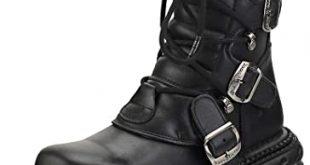 Amazon.com | New Rock New Punk and Rock Unisex Platform Boots | Sho
