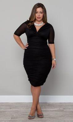Black dresses plus size cocktail - Style Jea